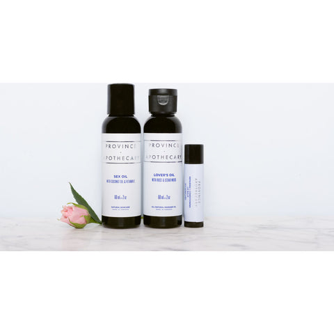 Province Apothecary Lovers Kit w/ LoverÕs Oil + Sex Oil + Lip Balm | 60ml/60ml/4ml- 58
