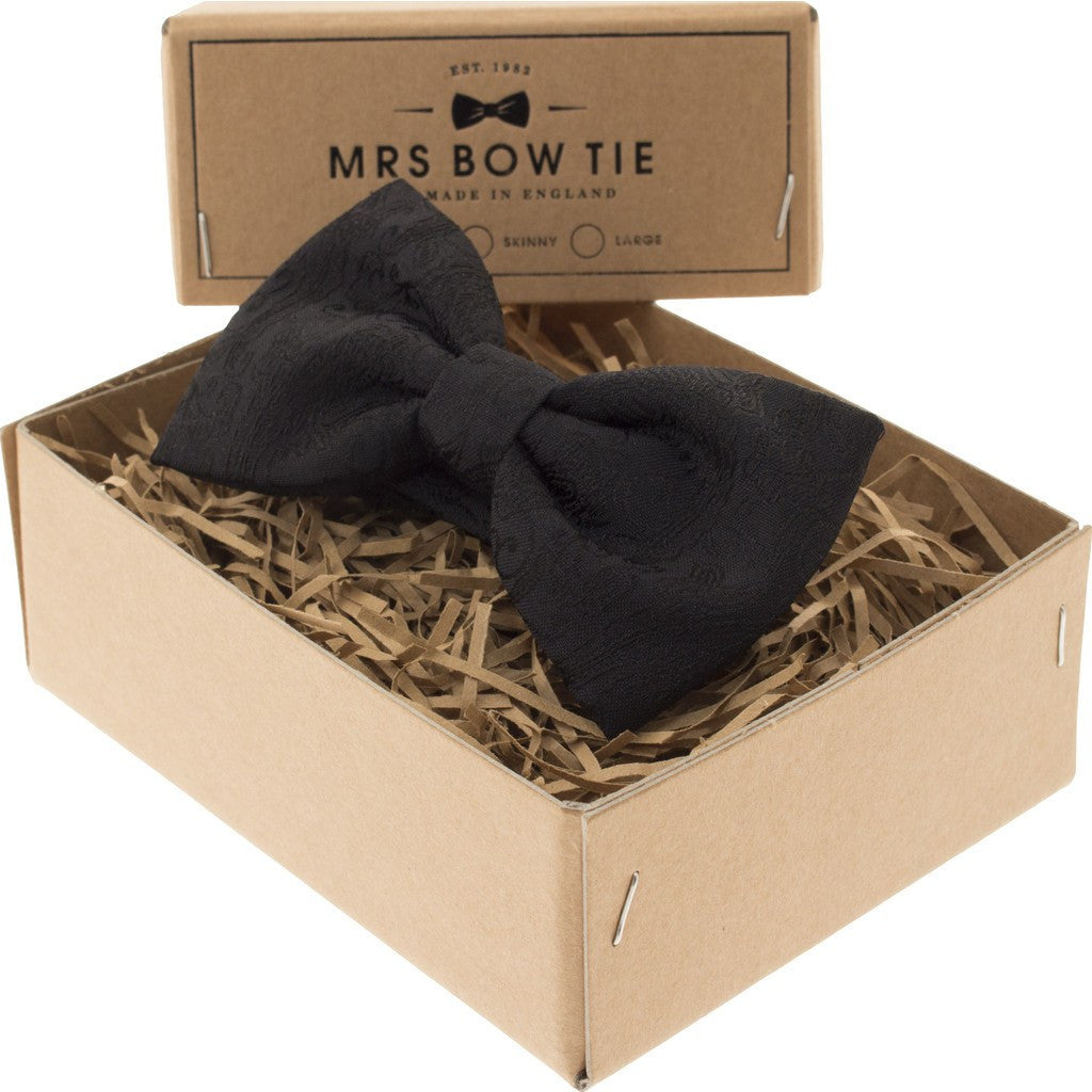Mrs Bow Tie Buckingham Ready-Tied Bow Tie | Black PAIS127
