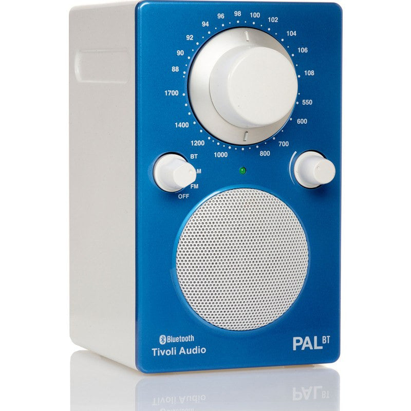 Tivoli Audio PAL BT Bluetooth Speaker Radio | Blue/White PALBTGB