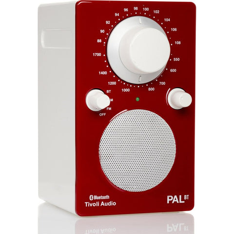 Tivoli Audio PAL BT Bluetooth Speaker Radio | Red/White PALBTGR