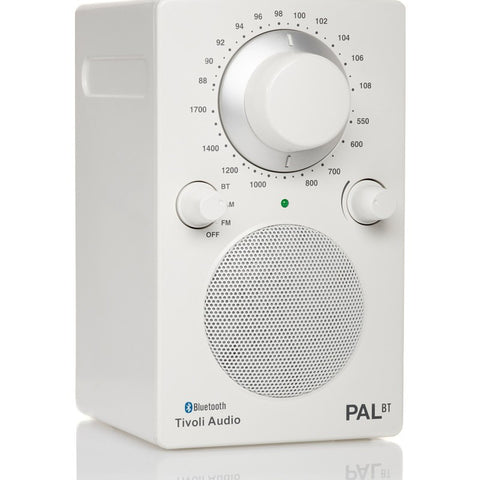 Tivoli Audio PAL BT Bluetooth Speaker Radio | White PALBTGW