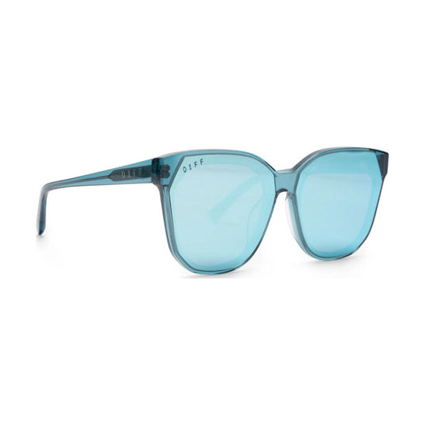 Diff Eyewear Gia Sunglasses | Pure Blue (Solid) + Pure Blue Mirror