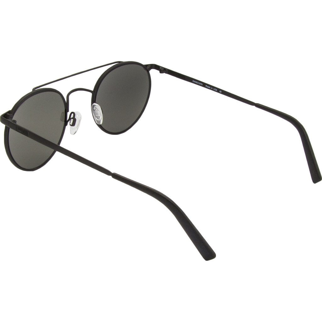 Randolph Engineering P-3 Shadow Matte Black Sunglasses | Gray Glass Skull 49MM PBP2411