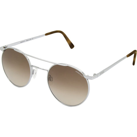 Randolph Engineering P-3 Shadow Bright Chrome Sunglasses | Tan Gradient Nylon Skull 49MM PBP3404-NY