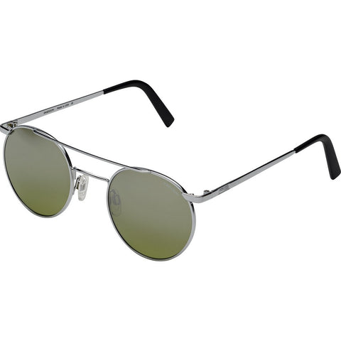 Randolph Engineering P3 Shadow Bright Chrome Sunglasses | Jade Metallic Nylon AR Skull 49/23MM PBP3410-NY