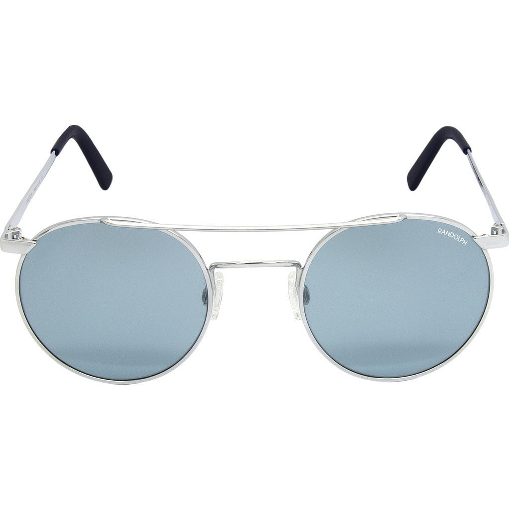 Randolph Engineering P-3 Shadow Bright Chrome Sunglasses | Blue Hydro Glass Skull 49MM PBP3474