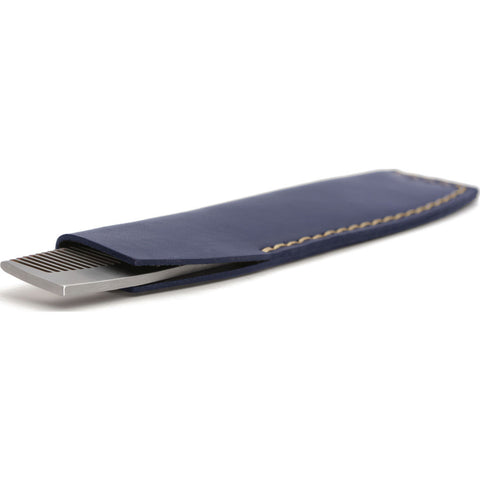 Ezra Arthur No.1827 Pocket Comb with Sleeve | Navy Pc1827Ss23