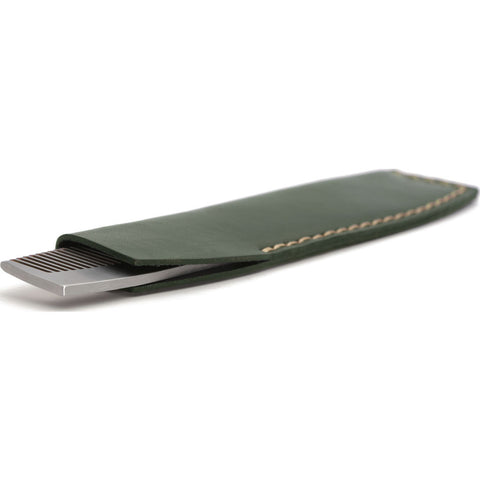 Ezra Arthur No.1827 Pocket Comb with Sleeve | Green Pc1827Ss24