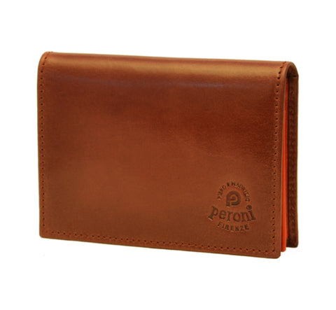 Peroni Leather Card Holder | Brown PF-11206MBOR
