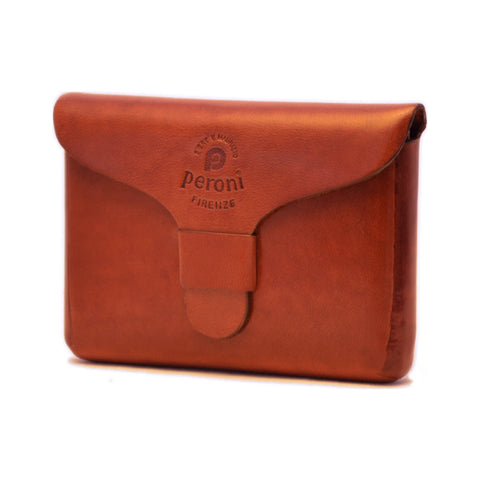 Peroni Leather Business Card Holder | Light Brown PF-751LB