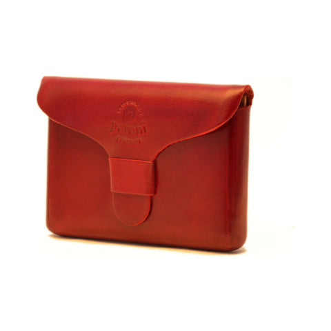 Peroni Leather Business Card Holder | Red PF-751RD