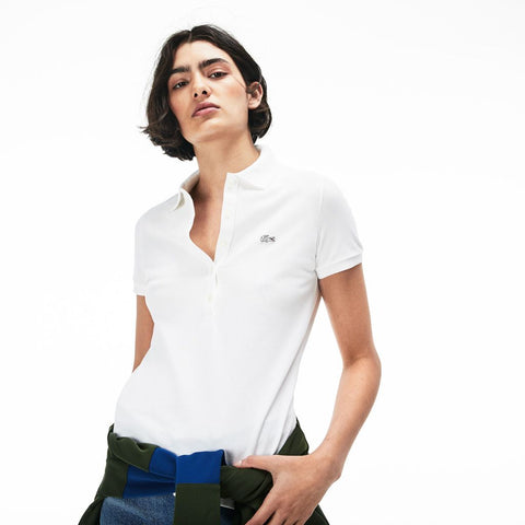 Lacoste Slim Fit Women's Polo Shirt | White- PF7845 12(44)