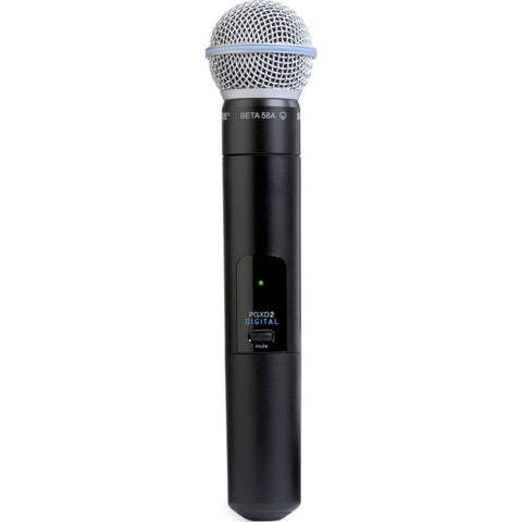 Shure PGXD2/BETA58 Handheld Transmitter with BETA58 Microphone | Black