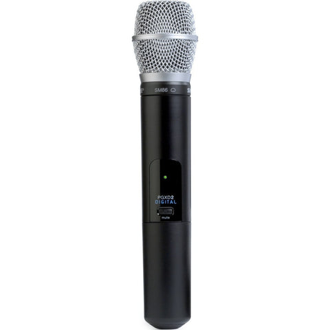 Shure PGXD2/SM86 Handheld Transmitter with SM86 Microphone | Black