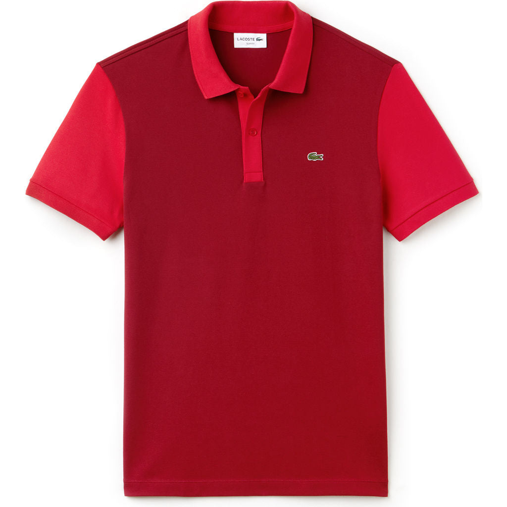 Lacsote Slim Fit Colorblock Men's Polo Shirt | Turkey Red/Toreador PH3170