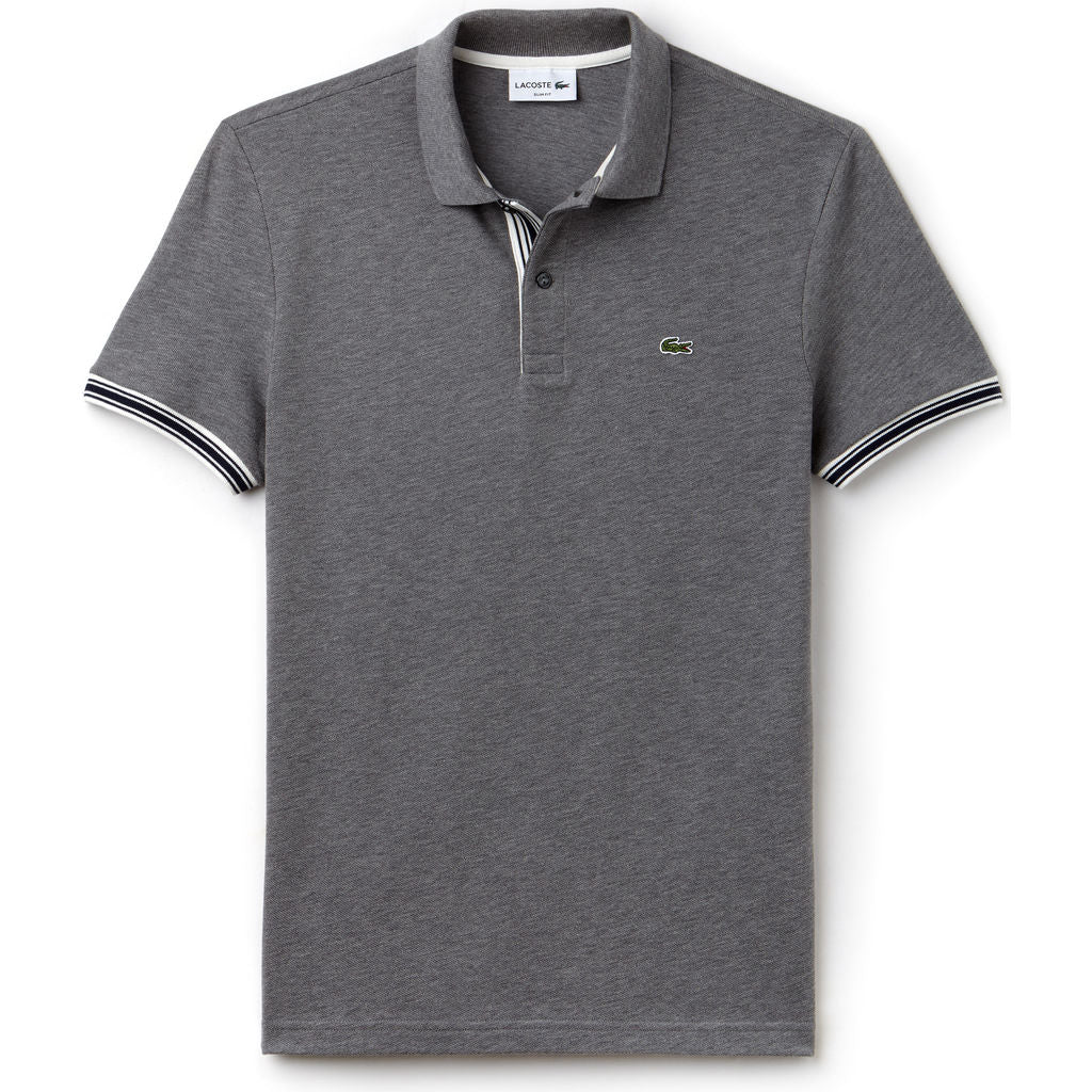 Lacoste Slim Fit Piped Sleeves Men's Polo Shirt | Galaxite Chine PH3187