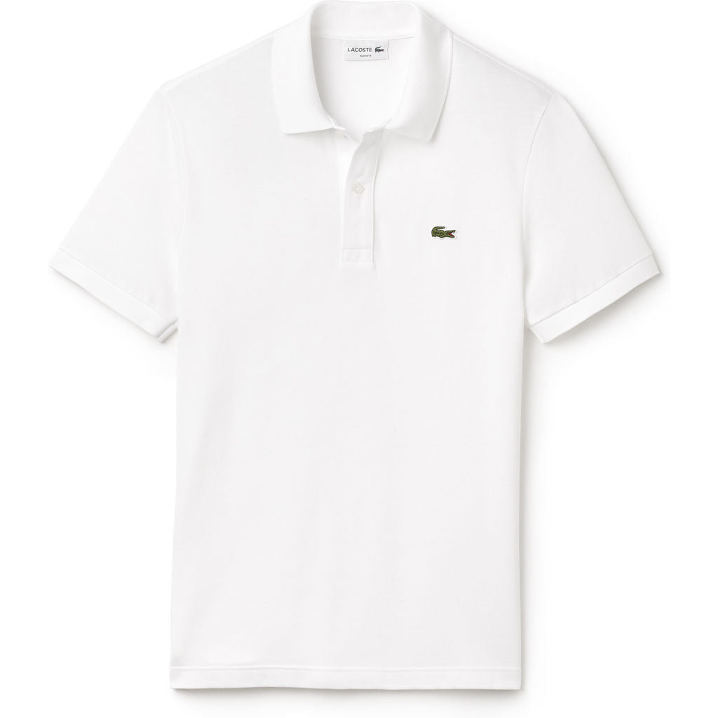 94f578bc3 Lacoste Slim Fit Pique Men's Polo Shirt in White - Sportique