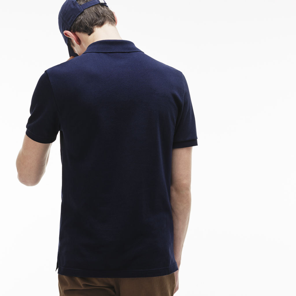 7d4631d4 Lacoste Slim Fit Pique Men's Polo Shirt in Navy Blue - Sportique