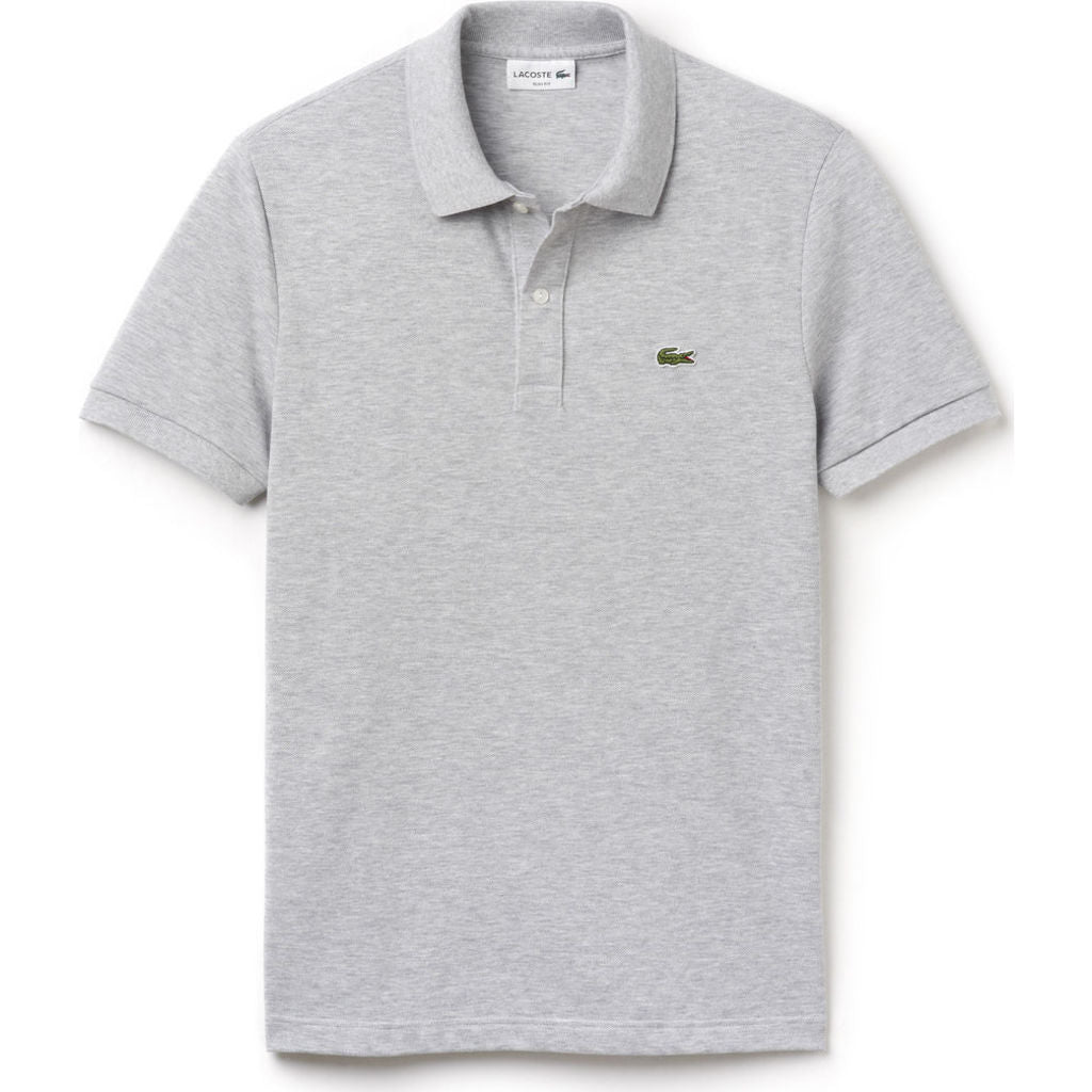 d7e674a11 Lacoste Slim Fit Pique Men's Polo Shirt in Silver Chine - Sportique