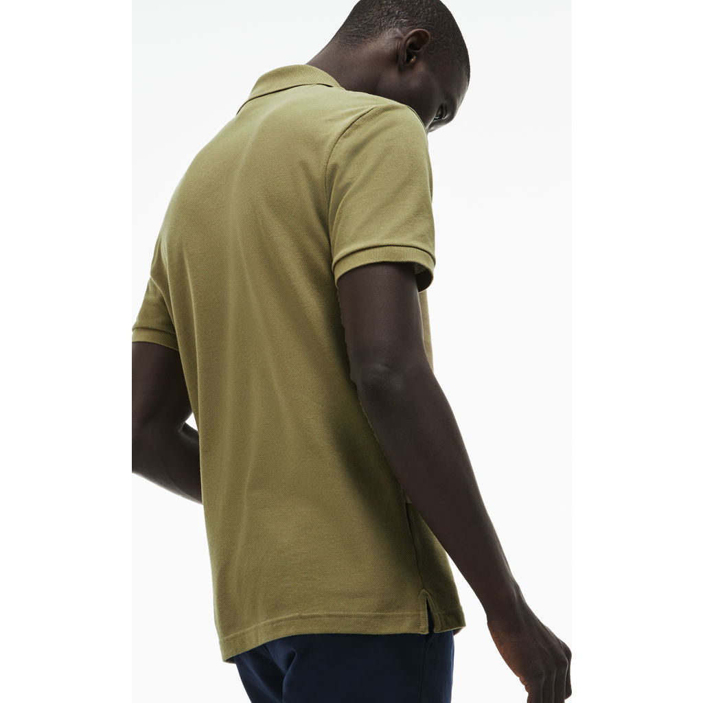 a613a414 Lacoste Slim Fit Pique Men's Polo Shirt in Aloe - Sportique