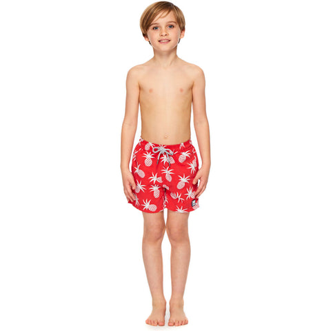 Tom & Teddy Boy's Pineapple Shorts | Blue & Crimson