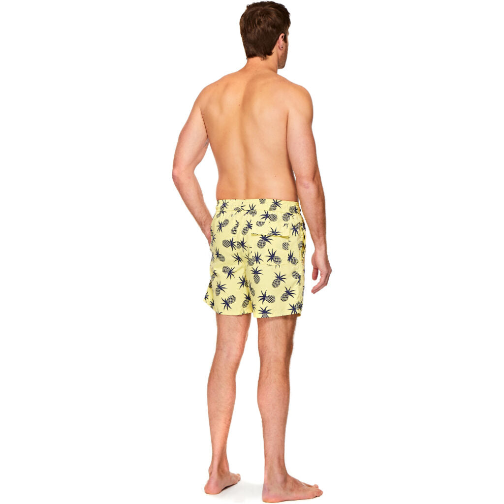 Tom & Teddy Men's Pineapple Shorts | Yellow & Blue