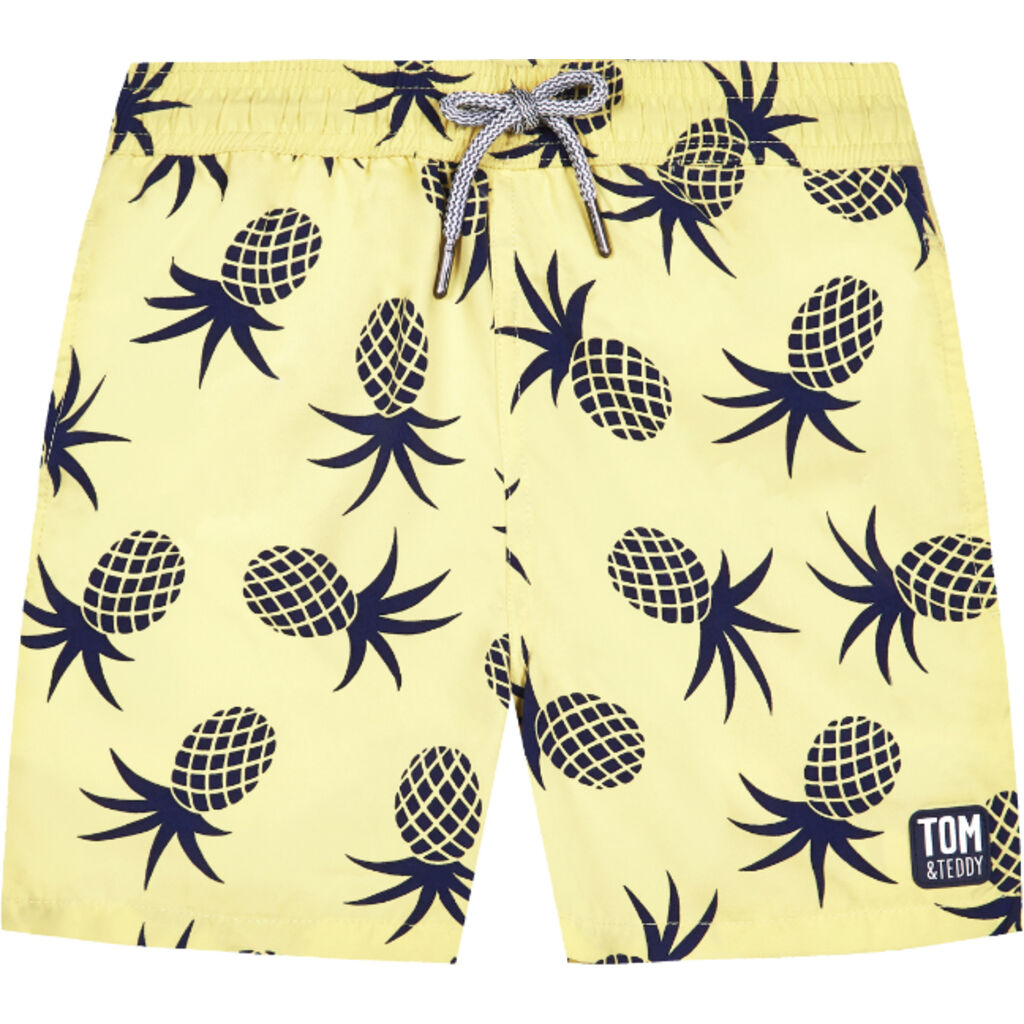 Tom & Teddy Boy's Pineapple Shorts | Yellow & Blue