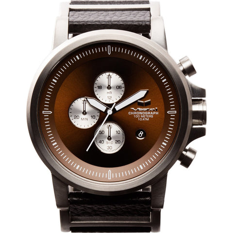 Vestal Plexi Leather Watch | Silver/Brown/Italian Leather PLCL03