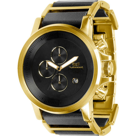 Vestal Plexi Leather Watch | Gold/Black PLE040