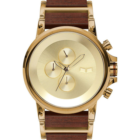 Vestal Plexi Wood Watch | Gold/Rosewood PLWCM002