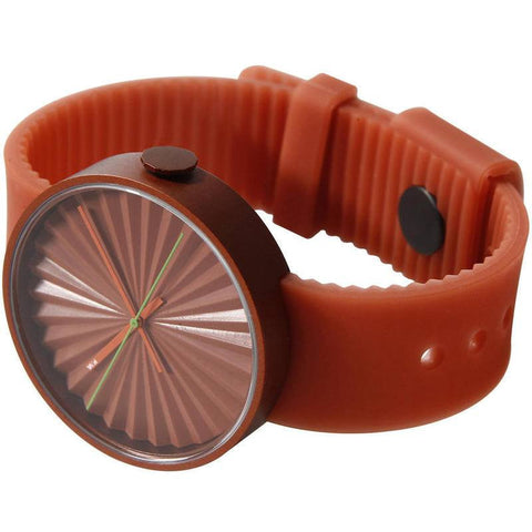 Nava Design Plicate 3D Dial Watch | Orange O460O