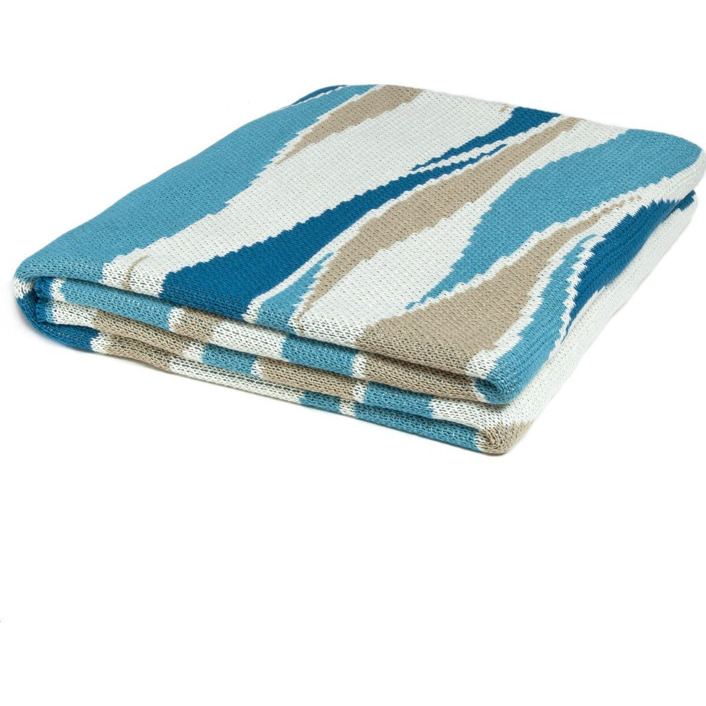 in2green Breakers Poly Eco Throw | Teal/Water/Camel/Ivory POLY-BR01