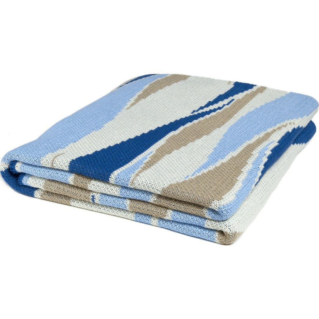 in2green Breakers Poly Eco Throw | Royal/Sky/Camel/White POLY-BR04
