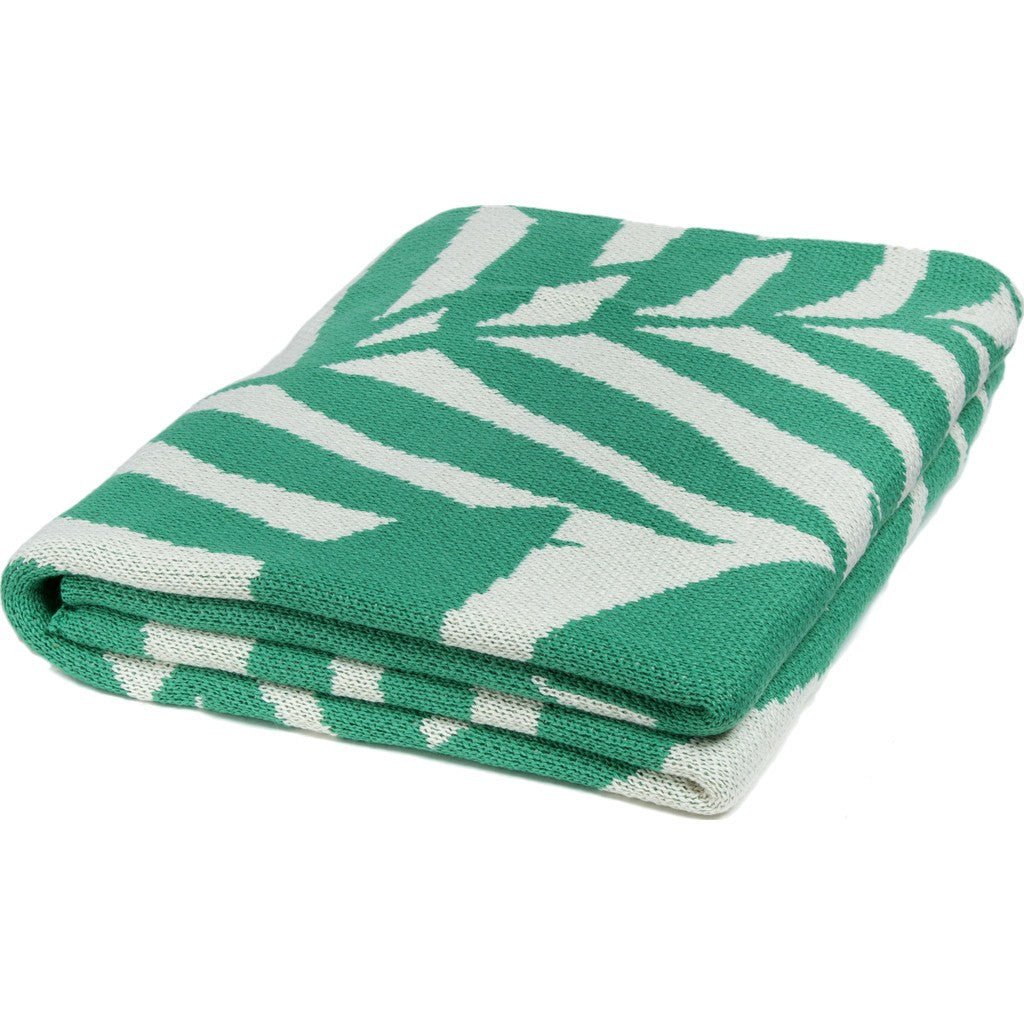 in2green Flora Poly Eco Throw | Emerald/Ivory POLY-FL02