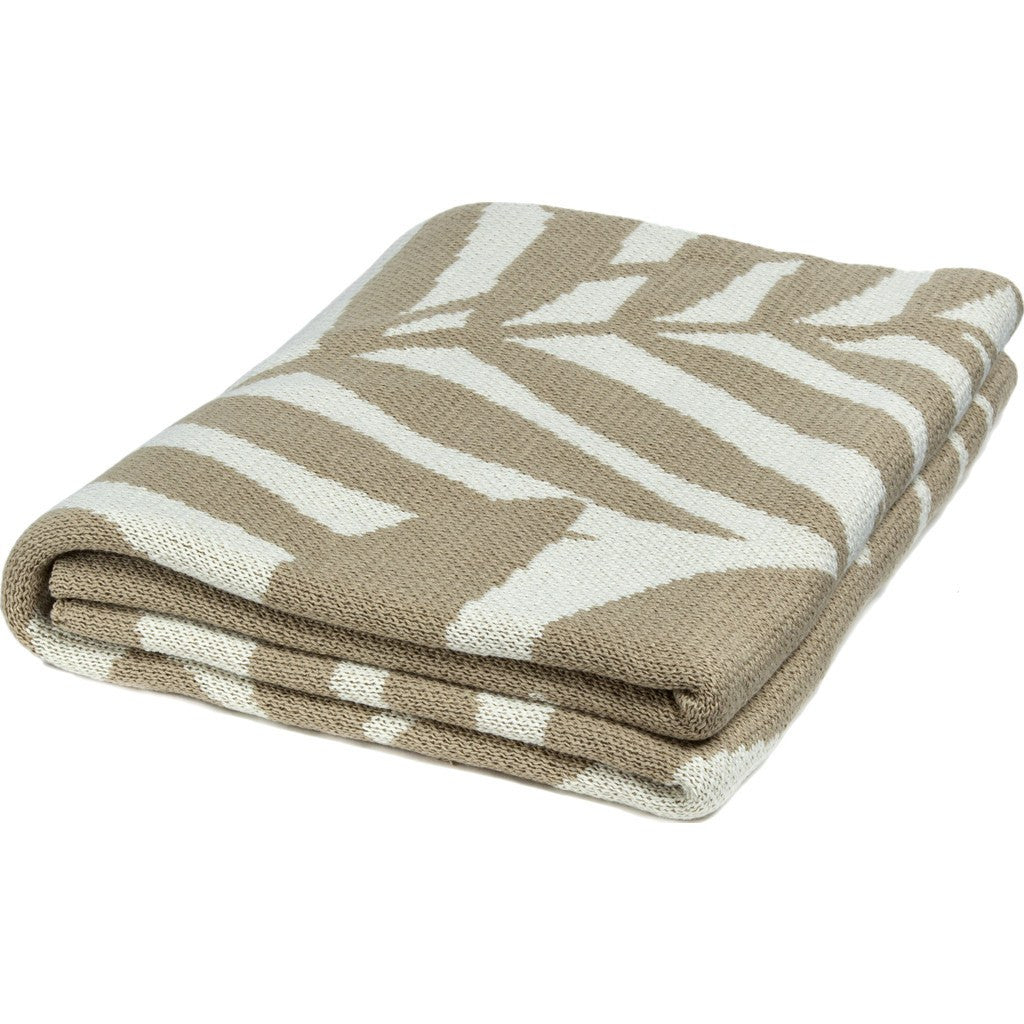 in2green Flora Poly Eco Throw | Camel/Ivory POLY-FL01