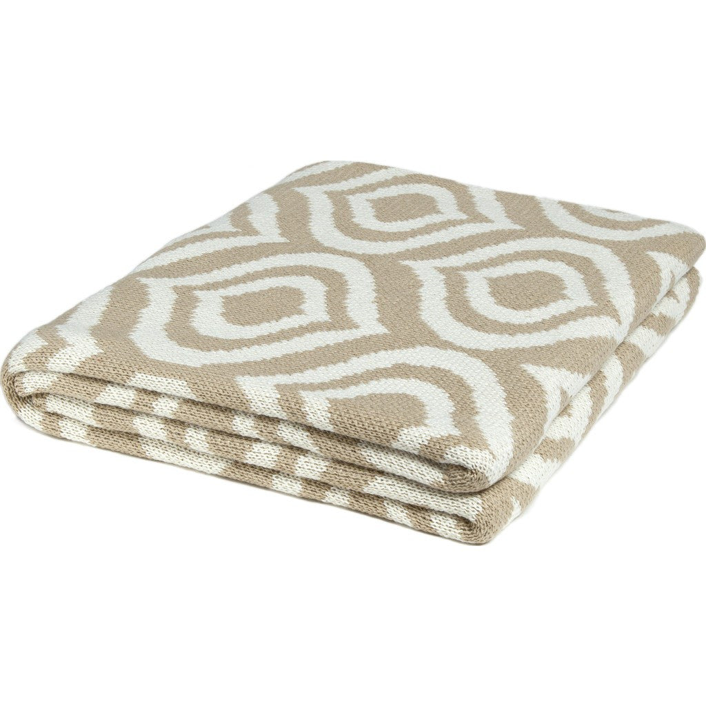 in2green Royal Poly Eco Throw | Camel/Ivory POLY-RY01