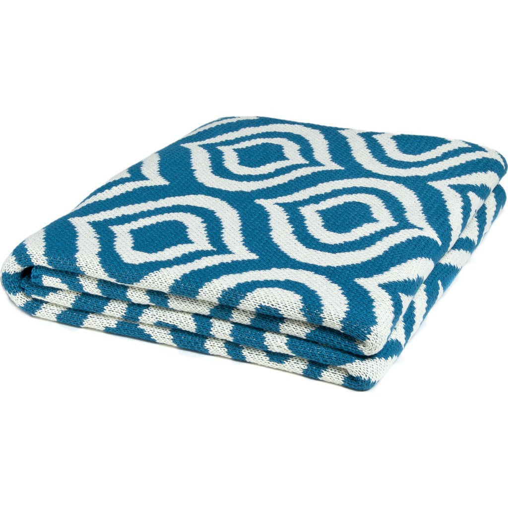 in2green Royal Poly Eco Throw | Dark Teal/Ivory POLY-RY03