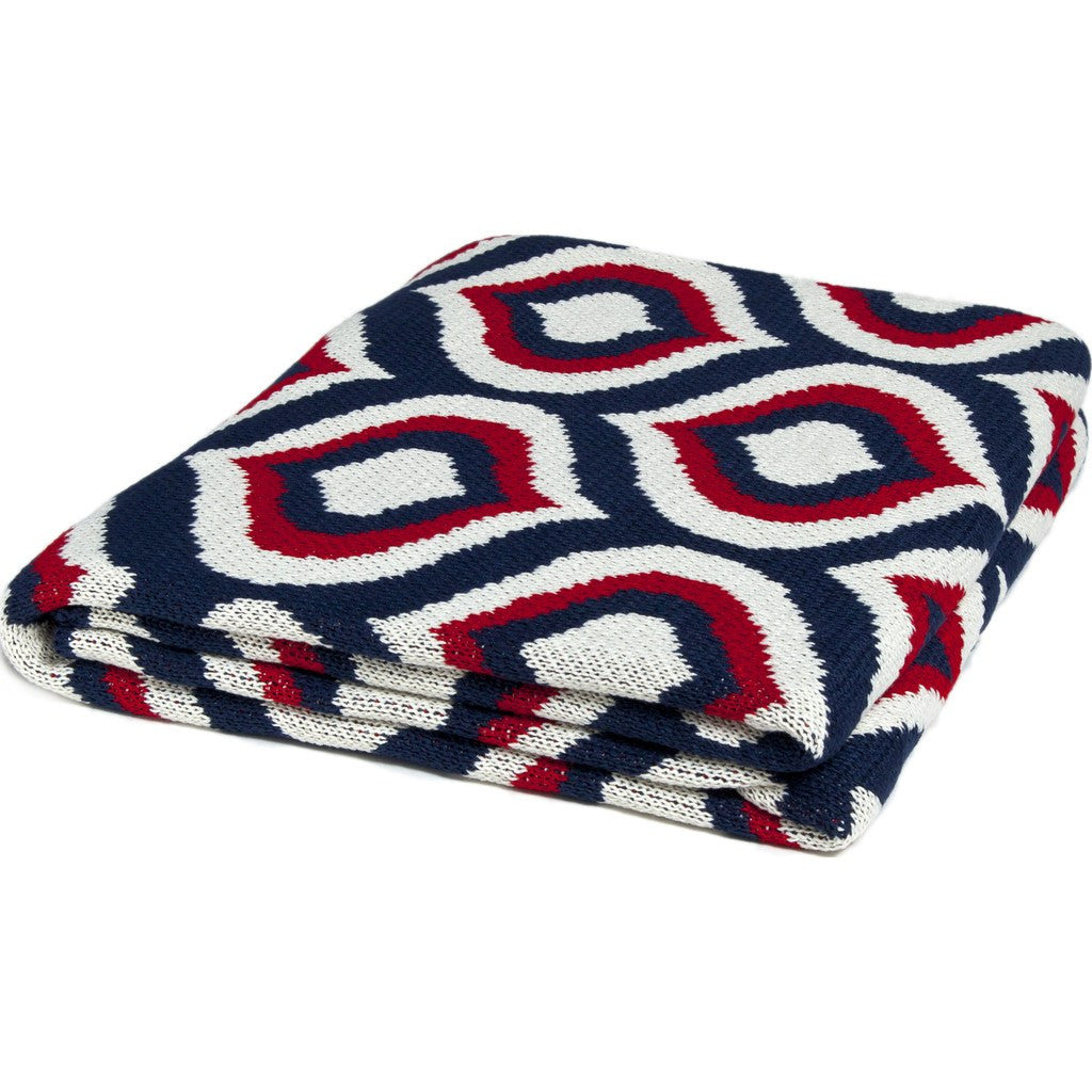 in2green Royal Poly Eco Throw | Navy/Red/Ivory POLY-RY04