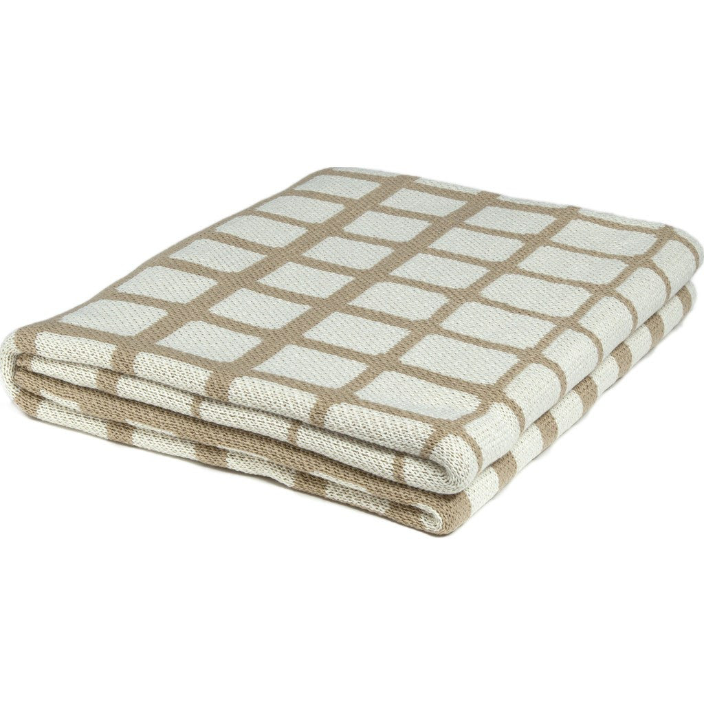 in2green Waterline Poly Eco Throw | Camel/Ivory POLY-WL01