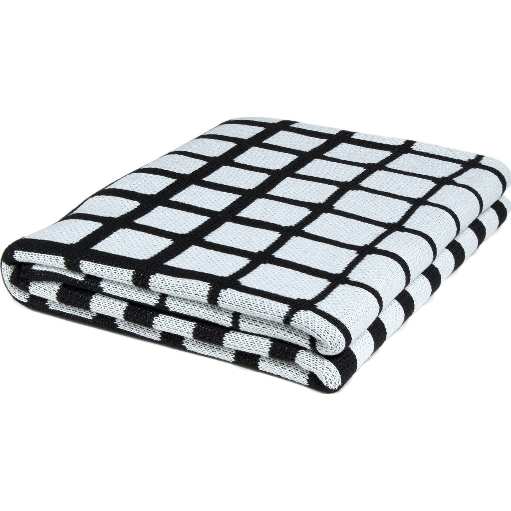in2green Waterline Poly Eco Throw | Noir/White POLY-WL03