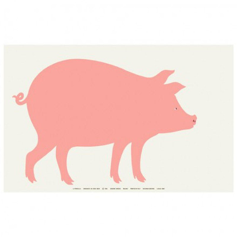 Danese Milano by Enzo Mari: Il Porcello | The Pig Poster