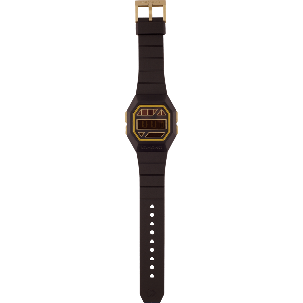 Komono Powergrid Watch | Black/Gold