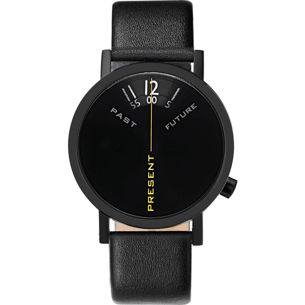 Projects Watches Past, Present & Future Watch | Black / Leather Band 7214 BL-40