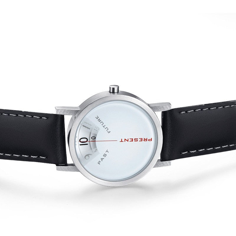 Projects Watches Daniel Will-Harris Past, Present & Future Watch | White Leather