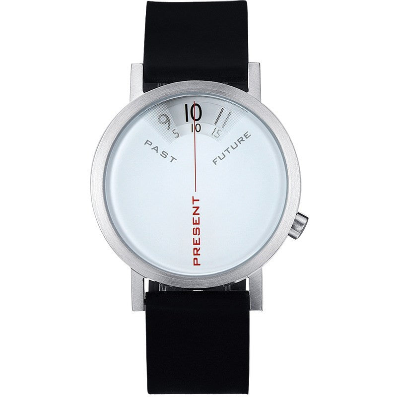Projects Watches Daniel Will-Harris 40mm Past, Present & Future Watch | Black/White Leather