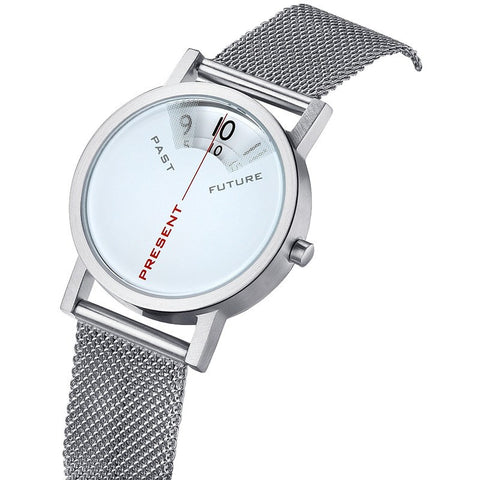 Projects Watches Daniel Will-Harris 40mm Past, Present & Future Watch | White Mesh