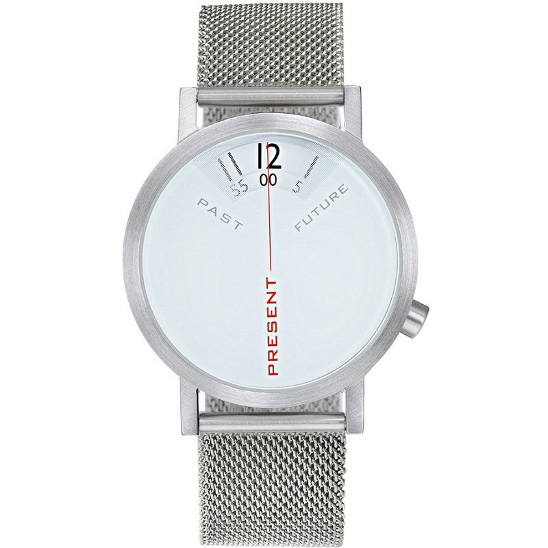 Projects Watches Daniel Will-Harris Past, Present & Future Watch | White Mesh
