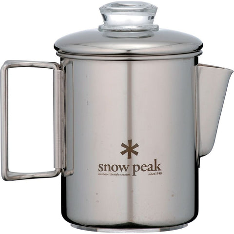 Snow Peak Coffee Percolator | Stainless Steel PR-006