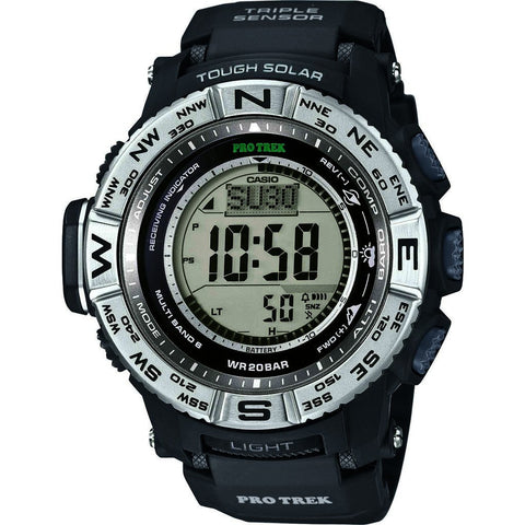 Casio Atomic Digital PRW-3500-1CR Watch | Black/Silver