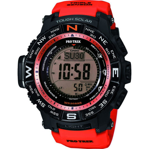 Casio Atomic Digital PRW-3500Y-4CR Watch | Black/Red